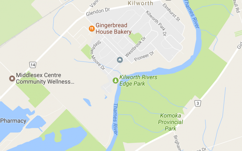 Map of Kilworth, Ontario