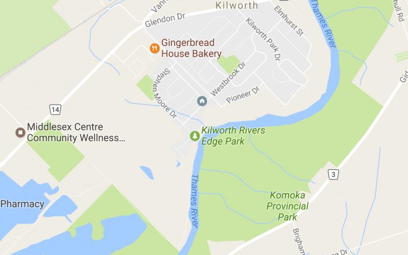 Map of Kilworth, Ontario