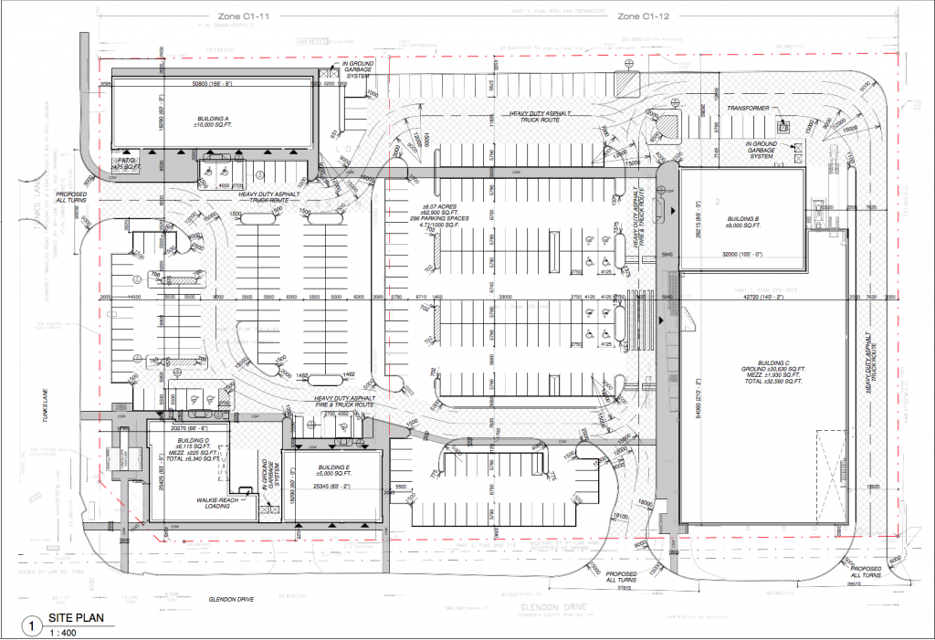 Screenshot of current site plan.